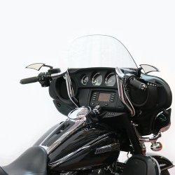 画像2: 0601-3353 バガーネーションモンキーバガーバー 10インチ ブラック 1997年以降のバットウイングツーリングモデル用