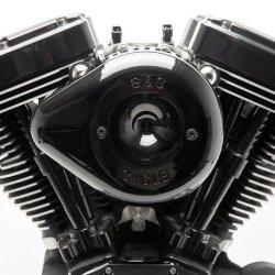 画像3: ミニティアドロップ ステルスエアークリーナーキット用カバー スラッシャークローム/ブラック