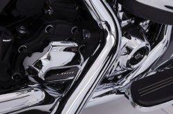 画像2: ダイヤモンドカット クラウンボルトキャップキット M8エンジン用 ブラック/クローム