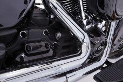 画像2: フルーテッド スパイク ボルトキャップキット M8エンジン用 ブラック/クローム