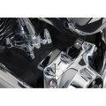 フルーテッド スパイク ボルトキャップキット TCエンジン用 クローム/ブラック