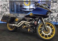 画像2: Performance Machine M8ツーリングモデル用 ミッドコントロールキット ブラック/ゴールド