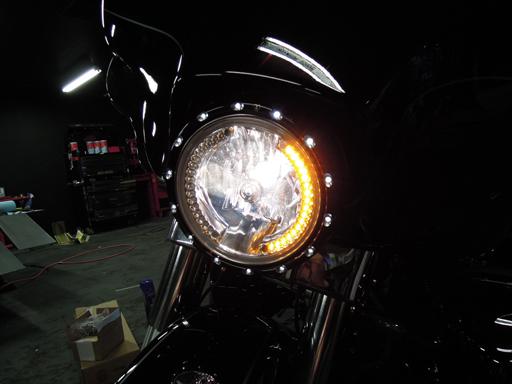 7インチ LEDイカリングライト H4 アンバー