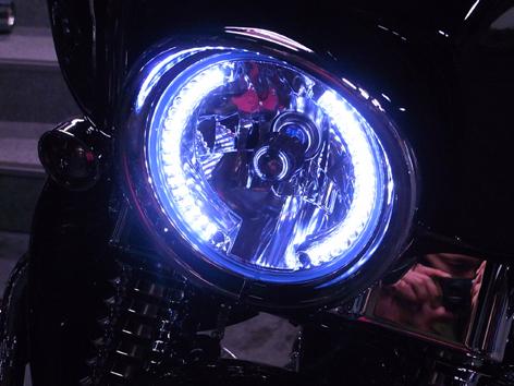 7インチ LEDイカリングライト H4